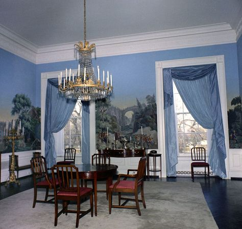 Second Floor Dining Room (added by Jackie with antique wallpaper)