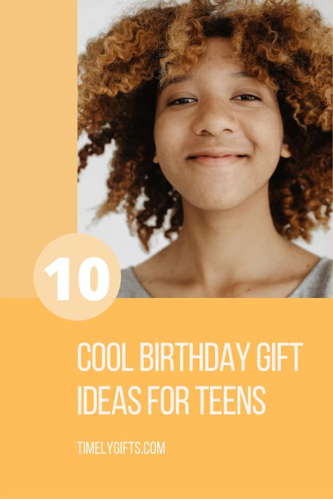 Looking for cool birthday gift ideas for teens? These cool and trendy gifts are sure to be loved by your teenager! This article contains 10 great ideas to inspire you in the search for the perfect gift for your teen. #happybirthday #giftideas #gifts #birthdaygifts #teenager #teengiftideas #giftsforteens #teenagersbirthdays'