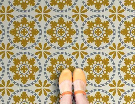 Vintage Tile Vinyl Flooring Retro Tile Flooring Retro Kitchen