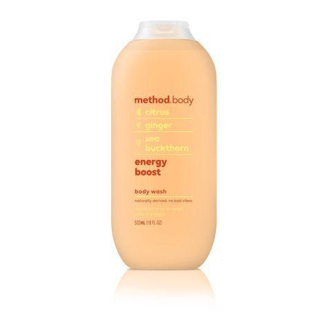 Method Body Wash, Energy Boost, 18 Fluid Ounce,Pack of 1 Shower Routine, Body Soap, Body Lotion, Sustainable Energy, Anti Aging Cream, Smell Good, Beauty Care, Beauty Stuff, Beauty Skin