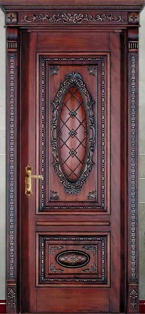 Hot Sale Top Quality And Reasonable Price Exterior And Interior Solid Wood Door Compound Sliding Doors Wood Doors Solid Wood Doors Carved Doors