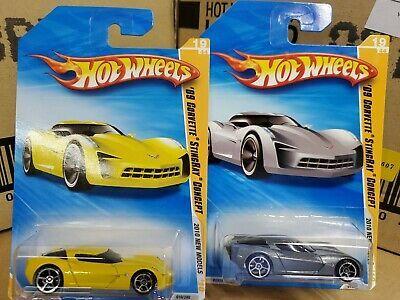 Ad 2010 Hot Wheels New Models 09 Corvette Stingray Concept Lot Of 2 Variations In 2020 Hot Wheels Corvette Stingray Matchbox Cars