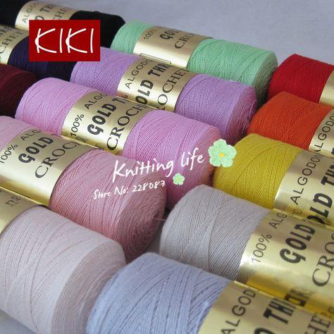 купить товар высокое качество 8 кружево хлопок пряжа для вязания