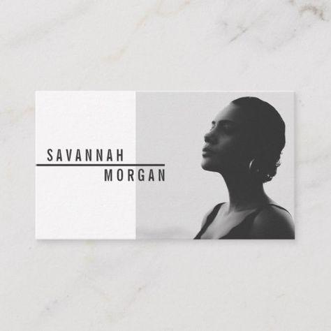 Actor model dancer photo trendy contemporary black business card