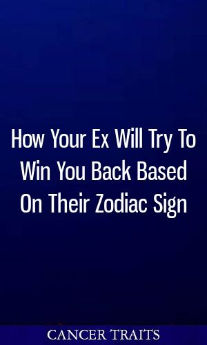 How Your Ex Will Try To Win You Back Based On Their Zodiac Sign