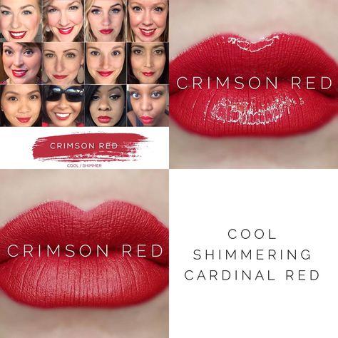 Crimson Red Lipsense Makeup Red Lipsense Red Matte Nails Lip