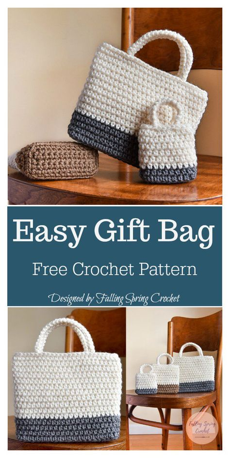 20 Ideas Crochet Patterns Free Bag Small Christmas Gifts