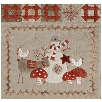 Scandinavian Christmas Winter Friends Wallhanging Pattern By Lynette Anderson Designs At Kayewood Com Scandinavian Quilts Christmas Applique Christmas Blocks