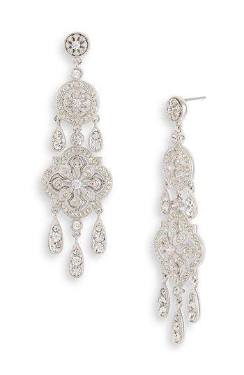 Nordstrom Earrings Nadri 39 Ankara 39 Chandelier Earrings Decadent Chandeliers Boast Sparkling Chandelier Earrings Wedding Accessories Bridal Jewelry