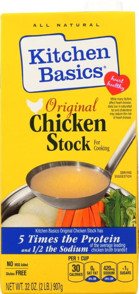 Kitchen Basics Original Chicken Stock 32 Oz Cooking Natural Kitchen Cooking Suggestions