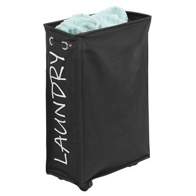 Folding Fabric Drawstring Laundry Hamper With Wheels Laundry