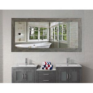 This Stunning Landover Barnwood Bathroom Mirror Is Sure To Bring Your Country Style Du00e9cor To Distressed Bathroom Vanity Top Bathroom Design Bathroom Design
