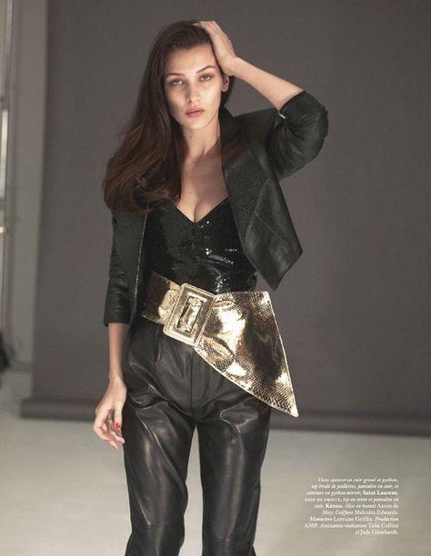 e4bc779d26bc77 Taylor Hill   Bella Hadid Cover Vogue Paris September 2016 Issue ...