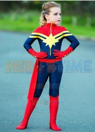 DFYM Captain Marvel Carol Danvers Cosplay Costume Leather Outfit Custom Made