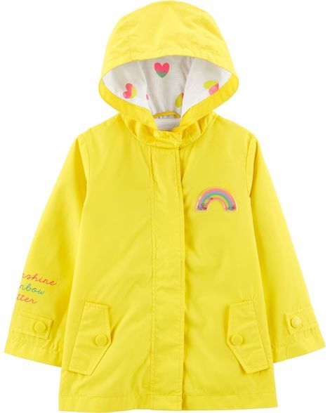 Rainbow Raincoat Baby Girl Jackets Toddler Girl Jackets Cute Raincoats