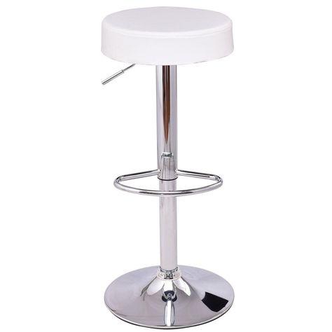 Wondrous Costway Adjustable Hydraulic Swivel Round Leather Seat Bar Machost Co Dining Chair Design Ideas Machostcouk