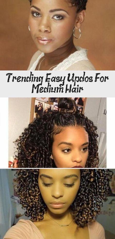 Easy Updos for Medium hair #naturalhairKids #Beautifulnaturalhair #LowPorosityna...#beautifulnaturalhair #easy #hair #lowporosityna #medium #naturalhairkids #updos