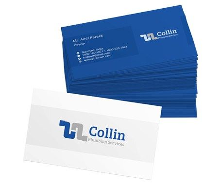 What A Nice Looking Business Card I Like The Blue And White Colors If A Business Printing Business Cards High Quality Business Cards Corporate Business Card