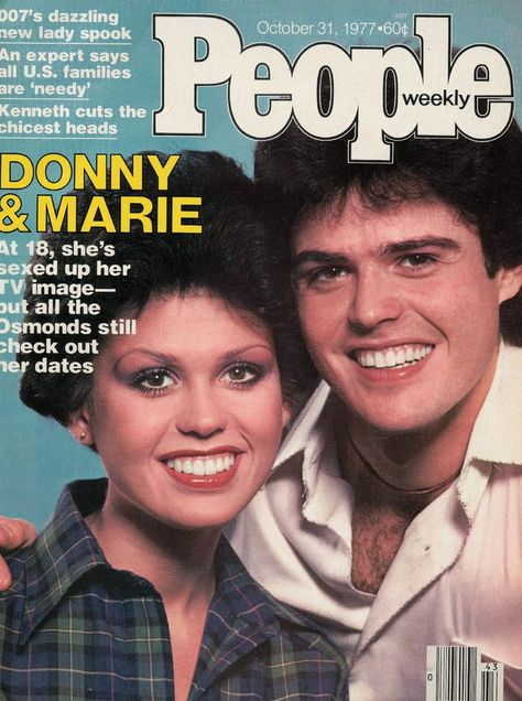 Vintage People Magazine Donny & Marie Osmond Oct 30 1977  Date Published: Oct 30, 1977 Cover Feature Photo: Donny & Marie Osmond  COVER STORY A Sibling Act They've Never Touched Coke (Even the Cola), but the Osmonds Are Getting Groovier.