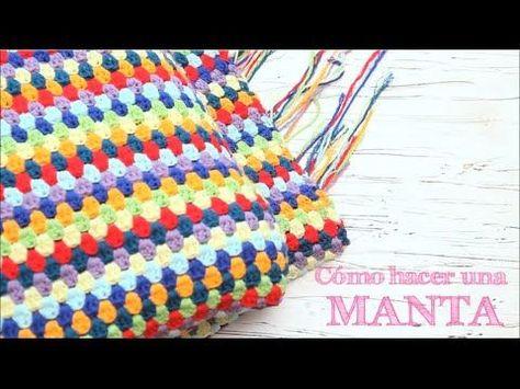 Cómo calcular la lana para una manta de ganchillo | How to calculate yarn for a crochet blanket - YouTube