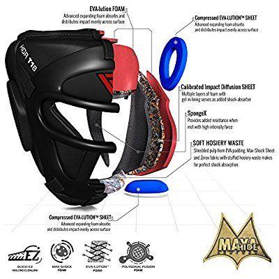 RDX Cow Leather No Impact Head Guard Helmet Boxing MMA Martial Arts Gear Kick CA
