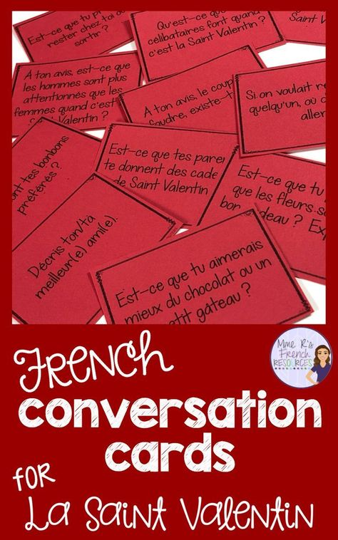 printable download French Valentine/'s Day La Saint Valentin 20 Questions Game