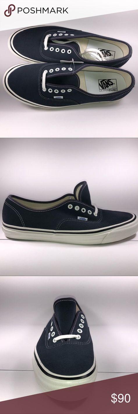 Vans   Anaheim Factory Collaboration. Vans Authentic 44 DX Anaheim Factory Suede  Blue   White Sneakers Mens ... c81f7a337