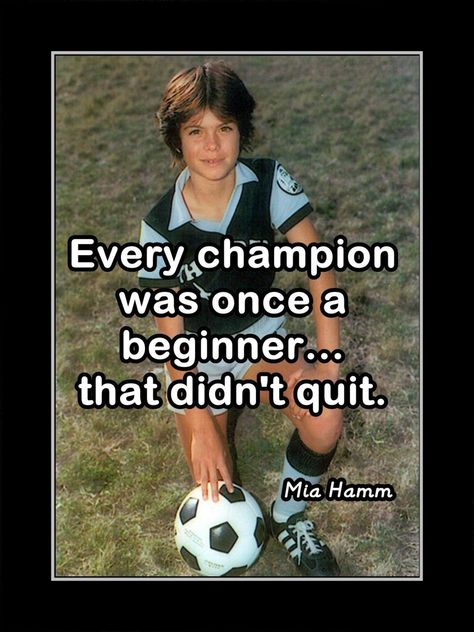 Mia Hamm, Inspirational Soccer Motivation Wall Art Gift, Champion Photo Quote Poster, Bedroom Wall Decor Free Ship by ArleyArt on Etsy Soccer Player Quotes, Soccer Memes, Soccer Drills, Soccer Players, Soccer Sports, Soccer Tips, Nike Soccer, Soccer Cleats, Quotes About Soccer