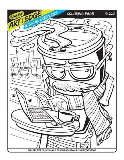 Crayola Art Edge Coloring Pages Concept