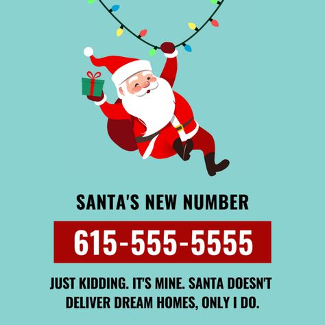Holiday Custom Posts — Ladies of Real Estate Real Estate One, Real Estate Quotes, Real Estate Humor, Funny Weekend Quotes, Funny Friday, Tgif Funny, Funny Quotes, Inmobiliaria Ideas, Santa Real