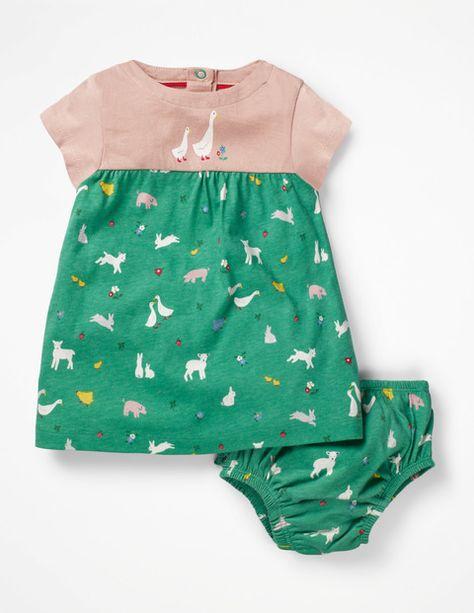 Boden Jerseykleid Mit Tiermotiv Green Baby Boden Green Grun