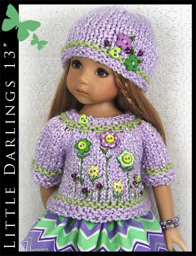 OOAK-Lavender-Green-Outfit-for-Little-Darlings-Effner-13-by-Maggie-Kate