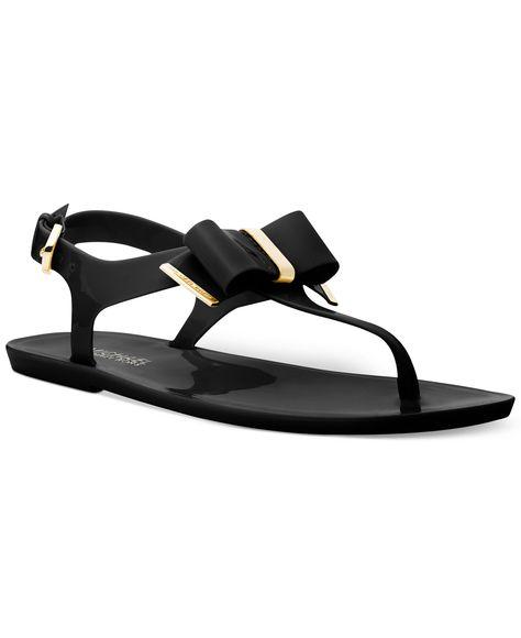 e97e5a82d MICHAEL Michael Kors Kayden Jelly Thong Sandals - Shoes - Macy s ...