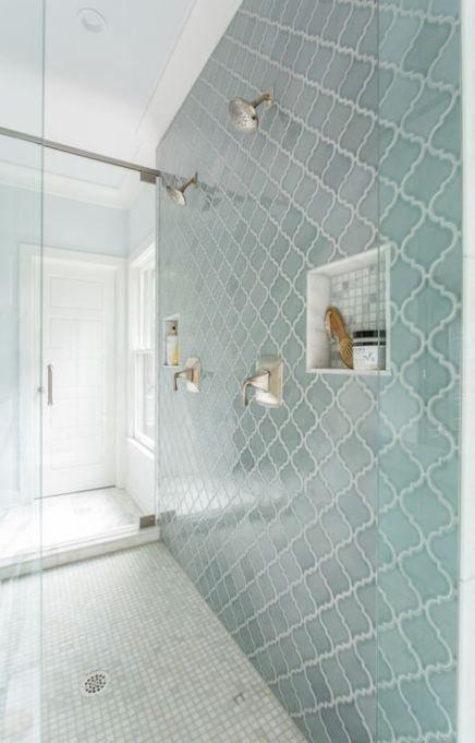 Bath Room Blue Green Aqua 44 Ideas In 2020 Blue Shower Tile Bathrooms Remodel Bathroom Remodel Master