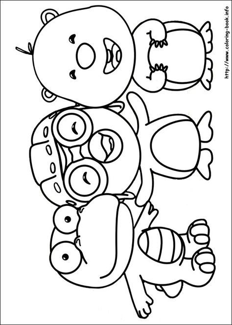 Pororo Coloring Picture For My Obsessed Daughter Coloring Books Coloring Pages Preschool Coloring Pages