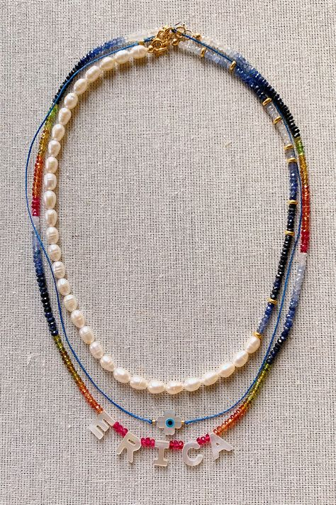 DIY Mother of Pearl Necklaces