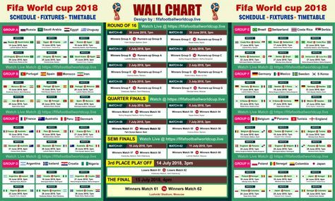 Download Fifa World Cup 2018 Wallchart Calender Keep Track Of Upcoming Matches Schedule Fixtures World Cup Fixtures World Cup Match World Cup 2018