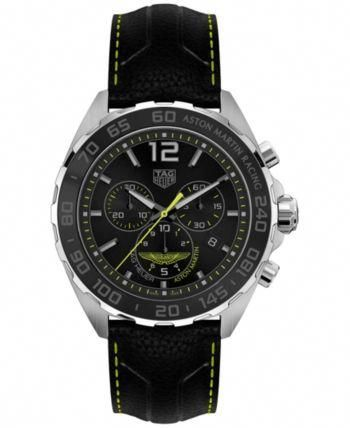 Limited Edition Tag Heuer Men's Swiss Chronograph Formula 1 Aston Martin Matte Black Leather Strap Watch 43mm - a #womenluxurywatches,womenluxurywatchesmostexpensive,womenluxurywatchesrolex,womenluxurywatchestagheuer,womenluxurywatchesclassy,womenluxurywatchespatekphilippe,womenluxurywatchesrosegold,womenluxurywatchesfashion,womenluxurywatchesaccessories,womenluxurywatchesvacheronconstantin