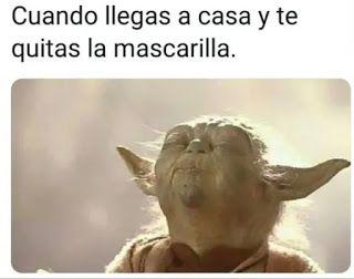Memes Mascarillas Yoda Memes Imagenes Graciosas Memes Graciosos