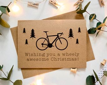 Bicycle Christmas Card Wishing You A Wheely Awesome Christmas Bike Lover Cyclist Cycle Enthusia Christmas Cards Christmas Cards Etsy Christmas Card Wishes