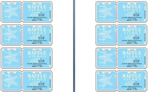 Sample Raffle Tickets The Template Has Six Tickets On A Page And   Microsoft  Office Raffle  Microsoft Office Raffle Ticket Template