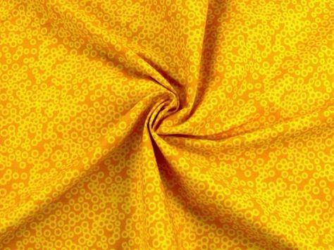 Baumwollstoff Kringel, gelb-orange - Baumwollstoffe marmoriert - im Online-Shop günstig kaufen
