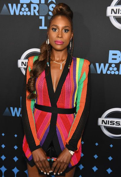 Issa Rae attends the 2017 BET Awards.