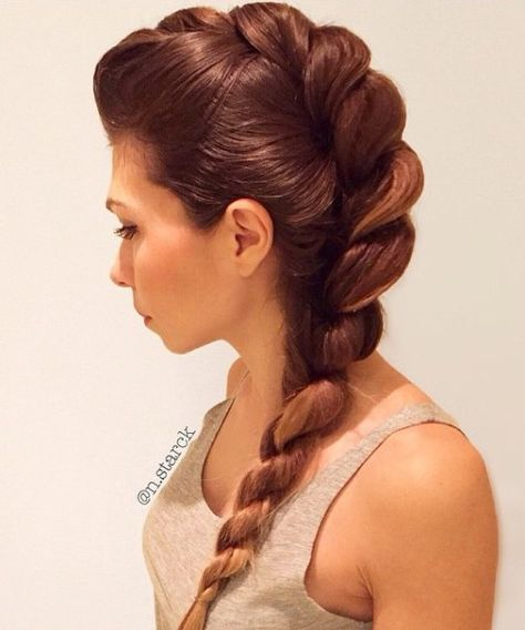 Rope Braid Hairstyles for Women. Awesome Rope Braid Hairstyles for Women. Rope Braid Hairstyles 20 Cute Ideas for 2019 Cool Braid Hairstyles, Side Hairstyles, Pretty Hairstyles, Wedding Hairstyles, Bridesmaid Hairstyles, Hairstyle Ideas, Hairstyles 2016, Updo Hairstyle, Latest Hairstyles
