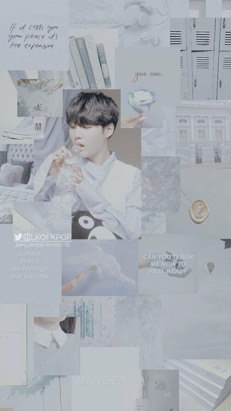 Yoongi Blue Aesthetic Wallpaper Credits To Twitter