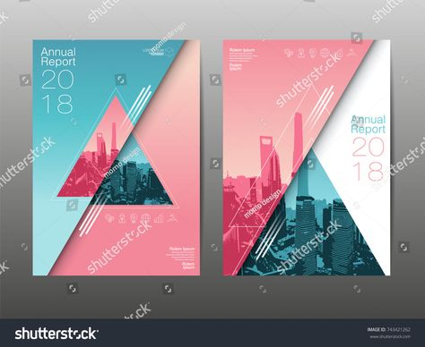 annual report 2018 future business template layout design cover