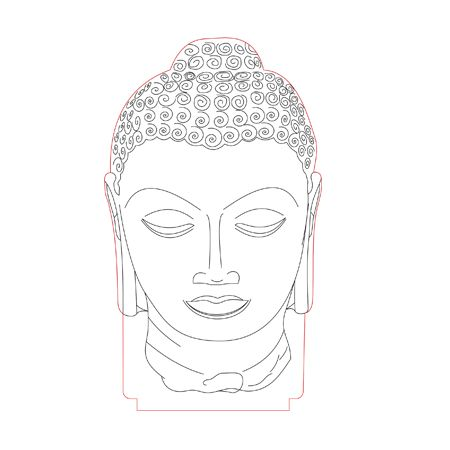Buddha Head 3d Illusion Lamp Plan Vector File For Laser And Cnc 3bee Studio 3d Illusion Lamp 3d Illusions Illusions