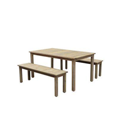 Thibeault 3 Piece Dining Set Allmodern In 2020 3 Piece Dining Set Dining Sets Modern Dining Room Sets