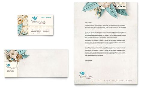 Hairstylist Business Card and Letterhead Template Design by - construction company letterhead template