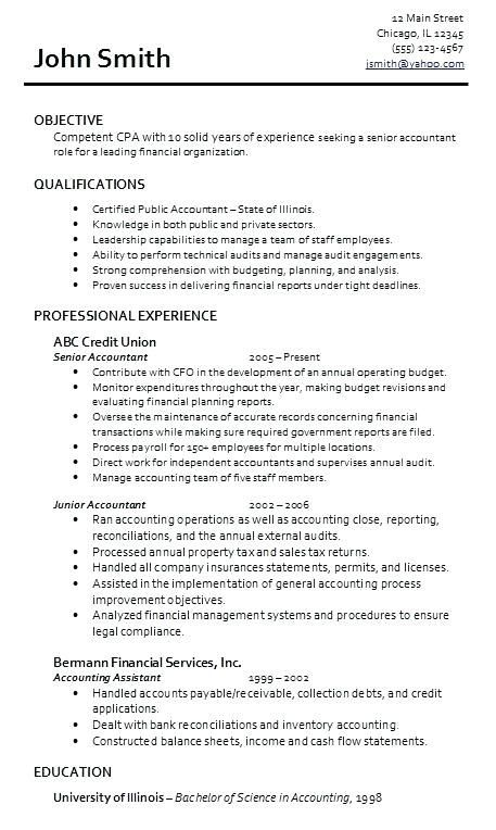 Resume Examples For Accounting 2019 Accountant Resume Job Resume Examples Resume Objective Sample